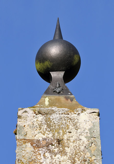 The decorative top of the Lord Dunglass Obelisk on the Hirsel Estate