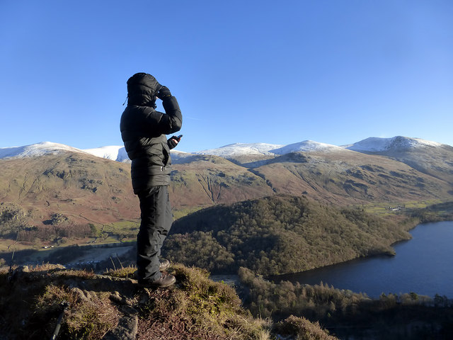A plane spotter at Thirlmere