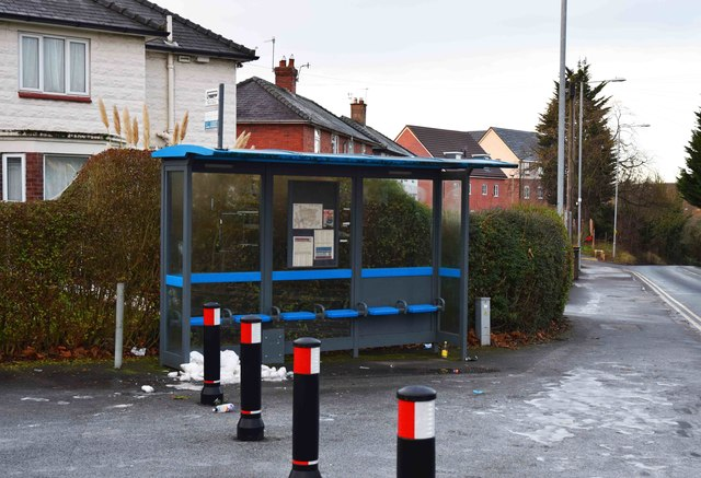 Bus stop and shelter, Bromyard Road, St. John's, Worcester