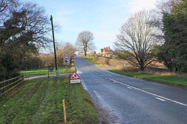 Roadworks on Watling Street