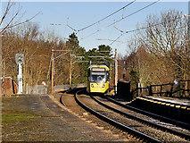 SD7807 : Metrolink Tram Approaching Radcliffe by David Dixon
