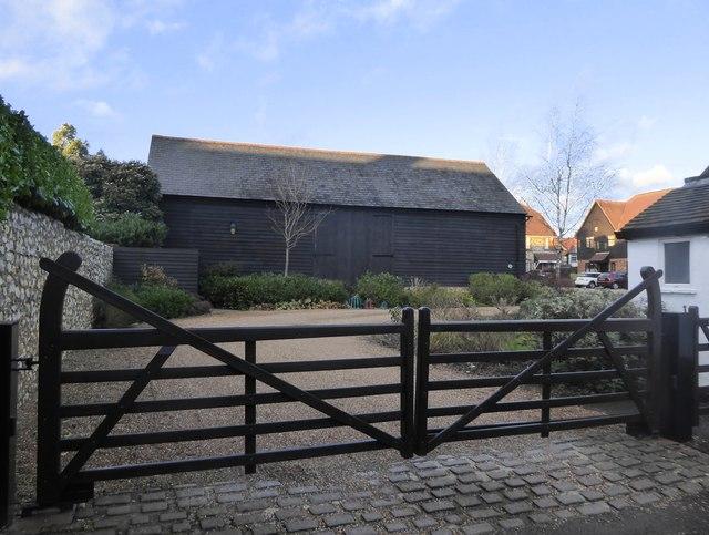Walton on the Hill: barn at Pond Farm Close