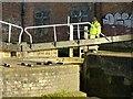 SK4833 : Volunteer lock-keeper by Alan Murray-Rust