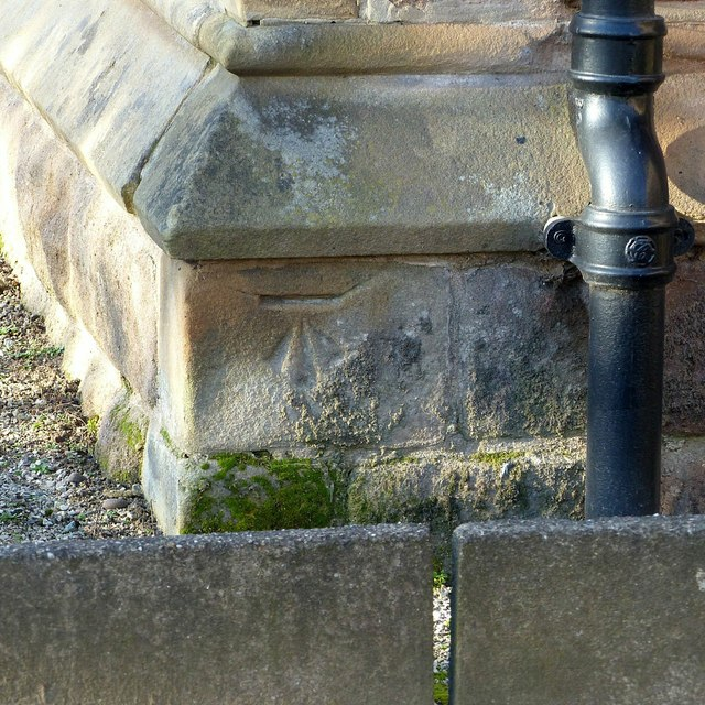 Bench mark, Long Eaton Cemetery Chapel