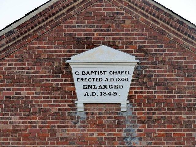 Sawley Baptist Church, datestone