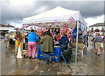 SJ9494 : RNLI stall on Hyde Market by Gerald England