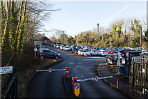 SU4828 : Private Hampshire County Council car park, Bar End by Peter Facey