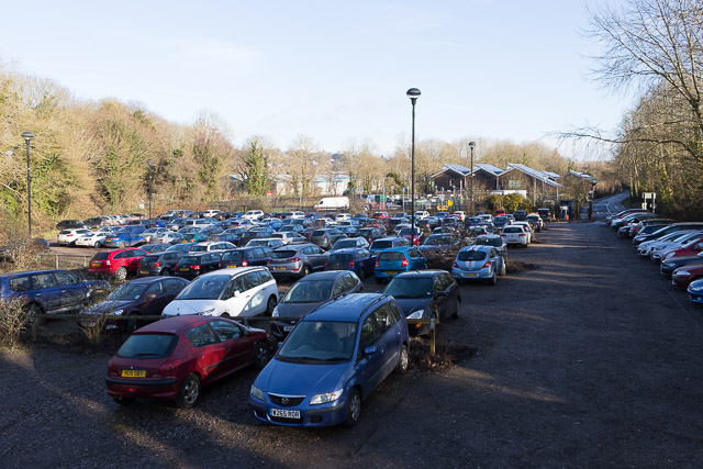 Private Hampshire County Council car park, Bar End