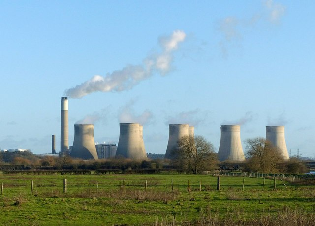 View towards Ratcliffe Power Station