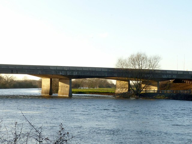 M1 viaduct over the River Trent