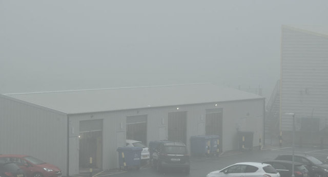 Fog, Belfast City Airport (January 2018)