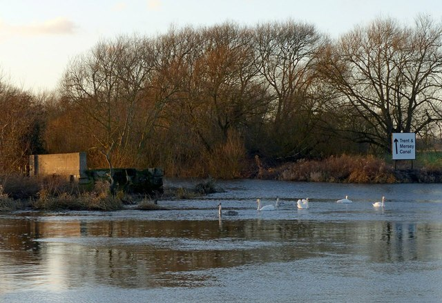 The end of the Trent and Mersey Canal
