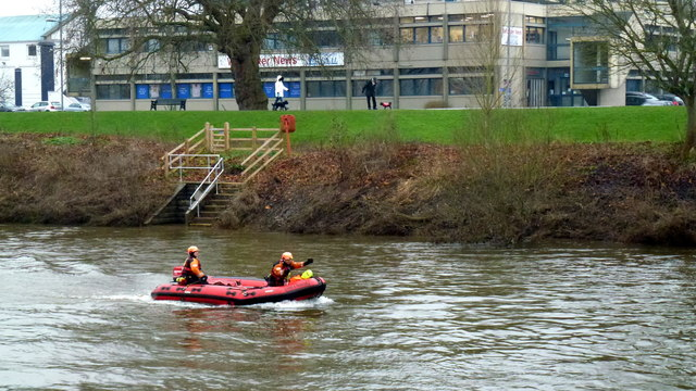 Rescue craft on the Severn