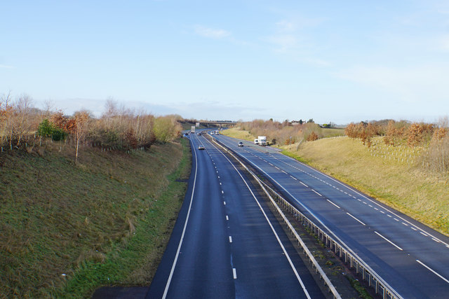 The A5 near Weeford