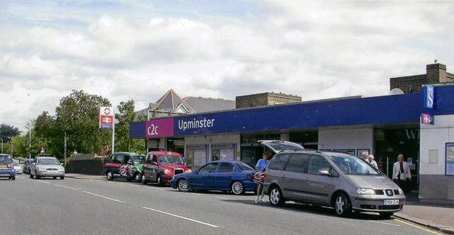 Upminster station, exterior Downside 2007