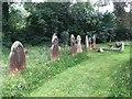 SU7084 : Headstones on the east end by Bill Nicholls