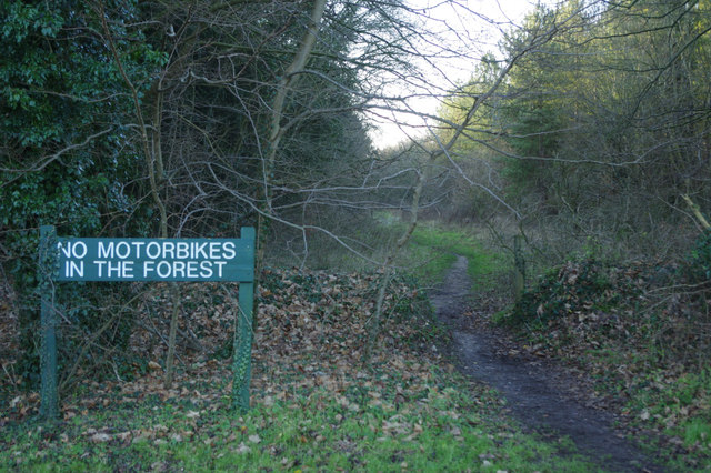 No Motorbikes in the Forest