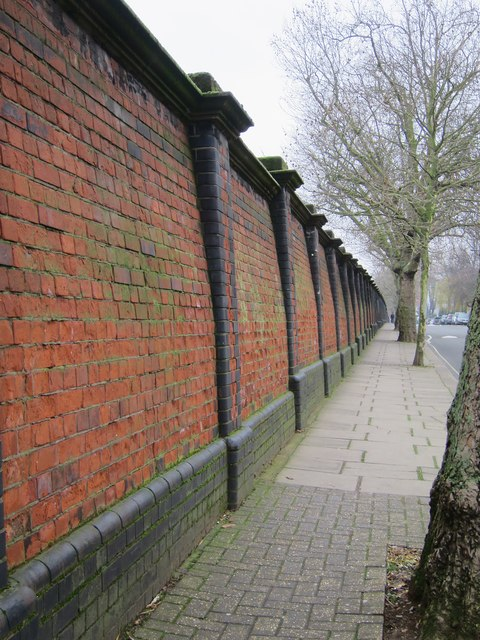 Wall along Westbourne Park Villas
