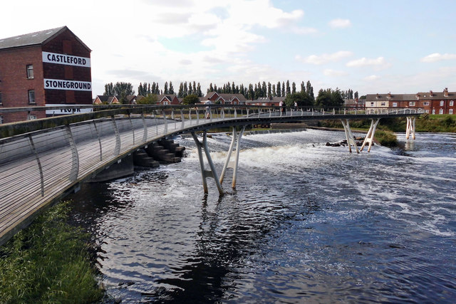 Footbridge over the River Aire