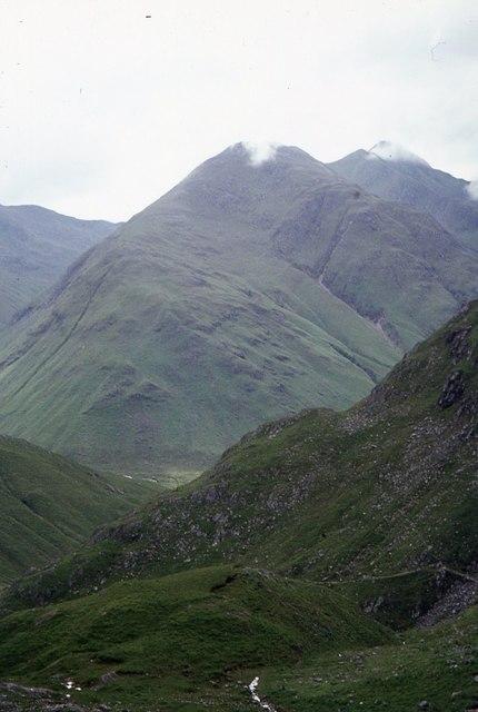 View from above the Allt Grannda