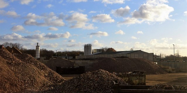 Piles of aggregate
