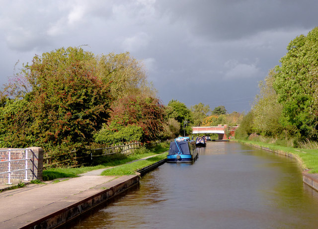 Trent and Mersey Canal north of Rugeley, Staffordshire