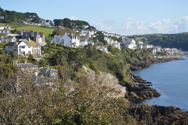 Looking back to Fowey