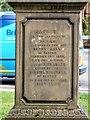 SJ7697 : Henry Hall's memorial stone (rear inscription) by Gerald England