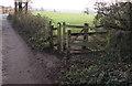 ST1982 : Wooden gate to a public footpath, Maerdy Lane, Lisvane, Cardiff by Jaggery