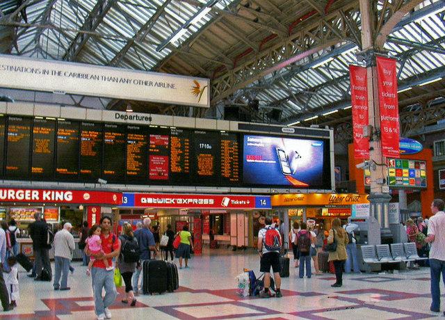 Victoria (Central) Station departure board, 2008