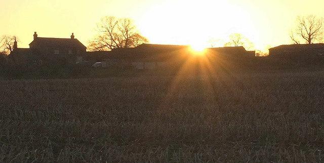 Sun over Broadfields Farm