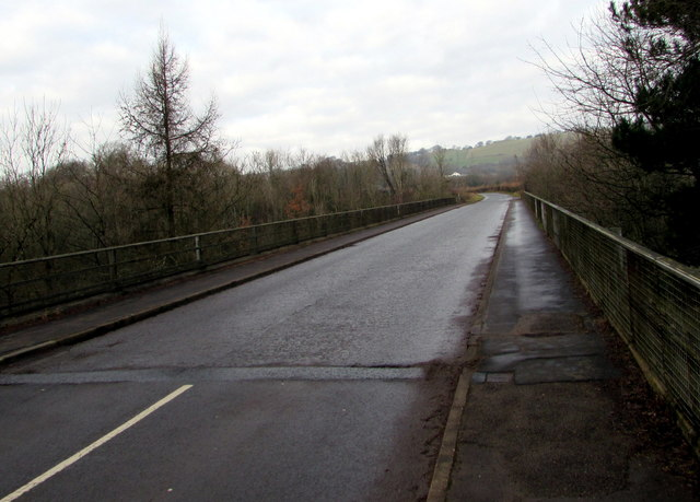 North across Graig Road motorway bridge, Lisvane, Cardiff