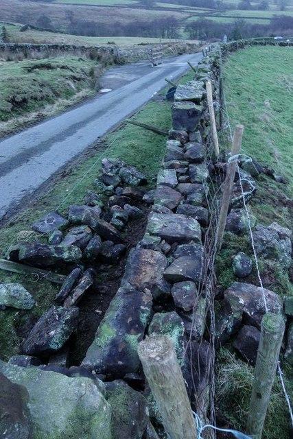 Wall repairs near Riddings
