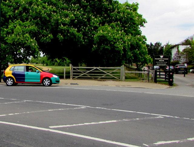 Multicoloured car, Hampton Court Road, East Molesey