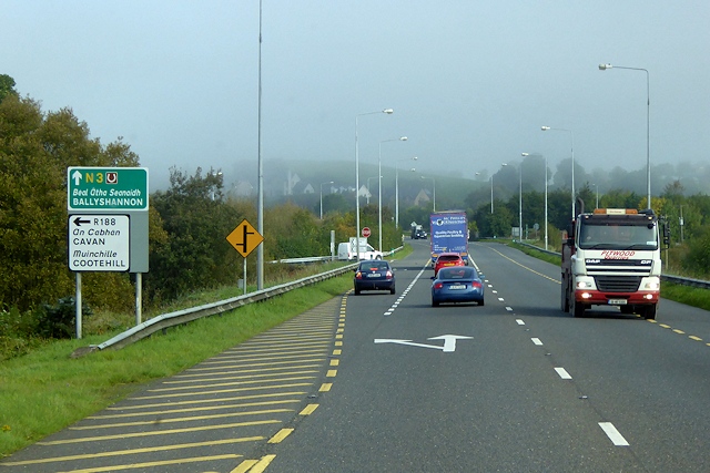Northbound N3 near Cavan