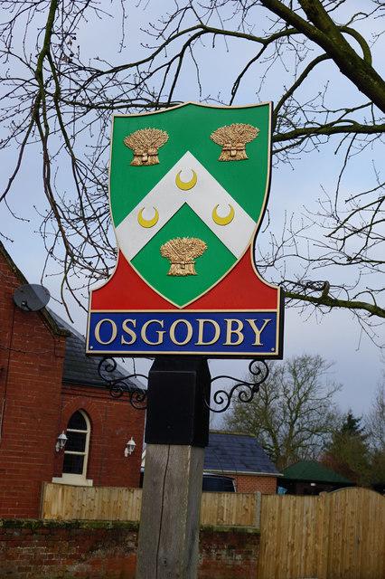 Village Sign on Main Street, Osgodby