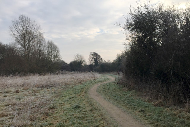 The gloom starts to lift, Sowe Valley footpath, Walsgrave, east Coventry