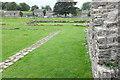 NZ0615 : Egglestone Abbey: North edge of Cloister by Bob Harvey