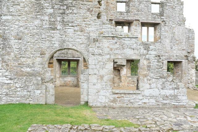 Egglestone Abbey: Door into east range