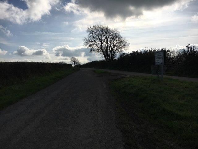 Lane heading to North Petherwin