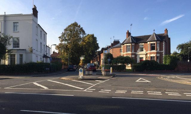 Four-way road junction, Warwick