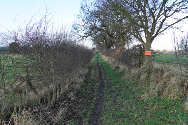 Bridleway past Horsley Brook Farm