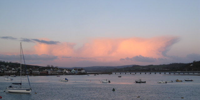 Anvil cloud over Dartmoor viewed from Teignmouth