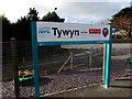 SH5800 : Tywyn railway station name sign by Jaggery