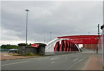 SJ8196 : Trafford Road Bridge  by Gerald England