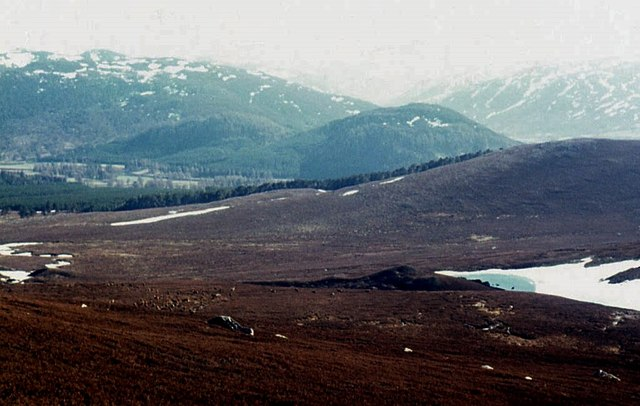 South slopes of Creag a' Chait