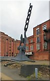 SJ8196 : Sky Hook at Trafford Park by Gerald England