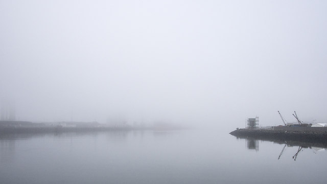 The Victoria Channel in the fog
