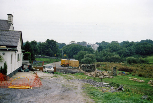 Waunfawr, Welsh Highland Railway station under restoration, 1999