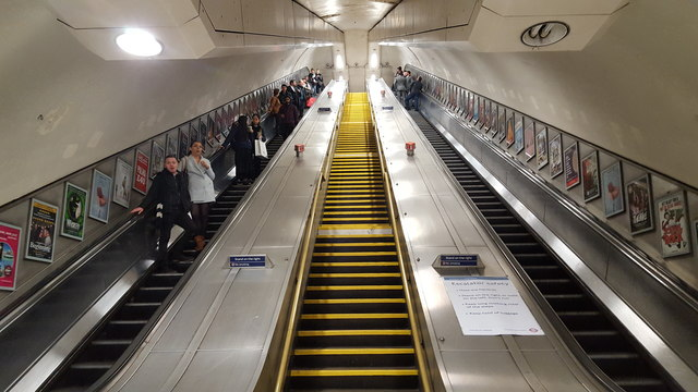 Escalator at Knightsbridge Underground Station